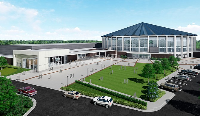 This rendering depicts the remodeled Mississippi Trade Mart building, which should be completed and open for business by June 2020. Photo courtesy Wier Boerner Allin Architecture