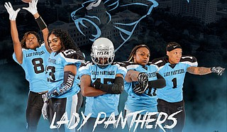 The Jackson-based women's tackle-football team prepares for its second season, which begins April 4. Photo courtesy Mississippi Lady Panthers