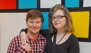 Deputy Editor Nate Schumann poses with his fiancée, Hannah, at the Best of Jackson 2020 Party. Photo by Acacia Clark