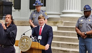 Gov. Tate Reeves will not be recommending a statewide lockdown until more information on the spread of COVID-19 is available. Reeves will sign additional executive orders to limit mass gatherings later today. Photo by Nick Judin