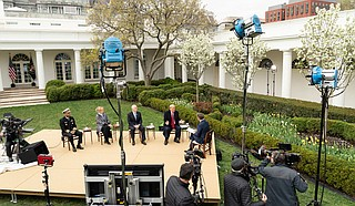 With lives and the economy hanging in the balance, President Donald Trump said Tuesday he is hoping the United States will be reopened by Easter as he weighs how to relax nationwide social-distancing guidelines to put some workers back on the job during the coronavirus outbreak. Official White House Photo by Shealah Craighead