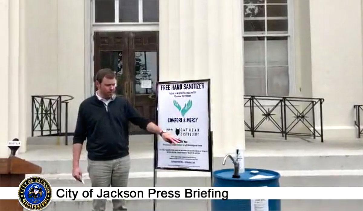 Free Sanitizer for Jackson Residents; Mayor Warns Businesses Violating Orders