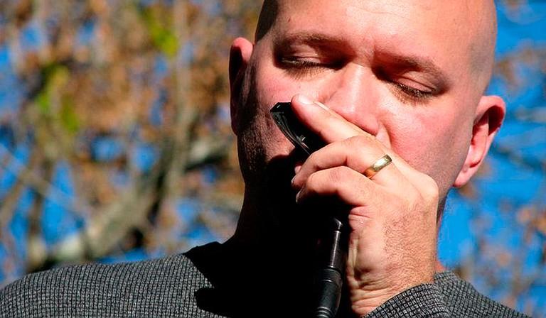 Jacksonian music artist Scott Albert Johnson holds live concerts through his Facebook page. Photo by Susan Margaret Barrett