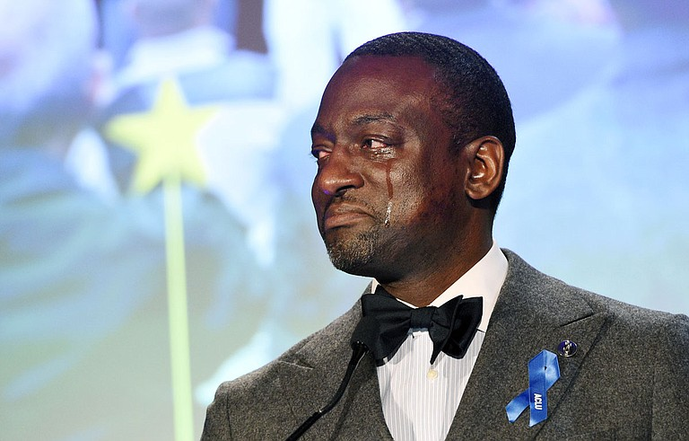 Dr. Yusef Salaam, who was wrongfully incarcerated in 1990 after being falsely accused with four other young men for the rape of a woman jogging in New York's Central Park, implored elected Mississippi officials and law enforcement to do more to combat the spread of COVID-19 in America's prisons and jails. Photo by Chris Pizzello/Invision/AP