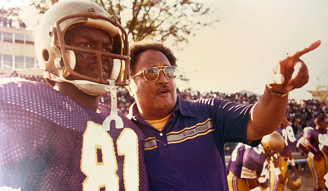 "A historically black college and university football coaching legend has passed away. On Saturday, April 25, Marino ""The Godfather"" Casem died at the age of 85 in his home. Photo courtesy Alcorn State Athletics"