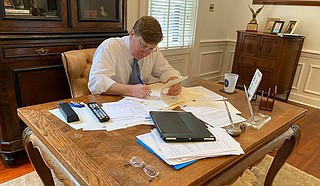 """Tate Reeves should have known that lieutenant governor is a powerful position—he'd been Mississippi's """"LG"""" for the eight years prior to this one. Photo courtesy State of Mississippi"""