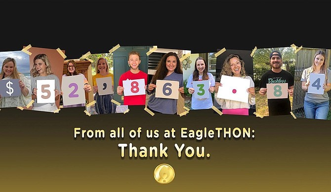 Student organizations at the University of Southern Mississippi recently held their annual dance marathon event, EagleTHON, virtually for the first time due to COVID-19 campus closures. Photo courtesy USM