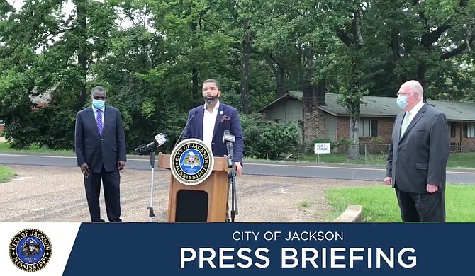 Mayor Chokwe A. Lumumba announced on May 22, 2020, that 13 Jackson streets are now slated for repaving. Photo courtesy City of Jackson