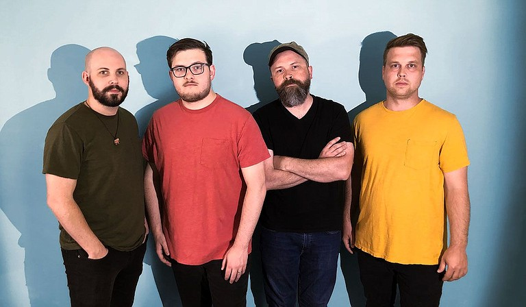 Empty Atlas' current lineup is, from left, Brennan Michael White, guitar; Micah Smith, lyrics and vocals; Robert Currie Handsford, drums; and Alex Ingram, bass. Photo by Best Ok Designs
