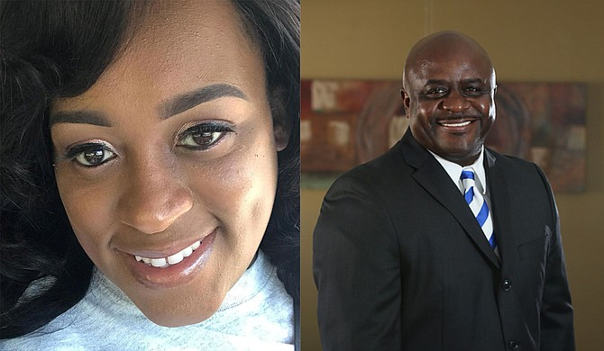 Shenakia Mosley (left) and  John Carroll Sr. are newly appointed council clerk and chief deputy council clerk of the City of Jackson, respectively. Photos courtesy Mosley, Carroll