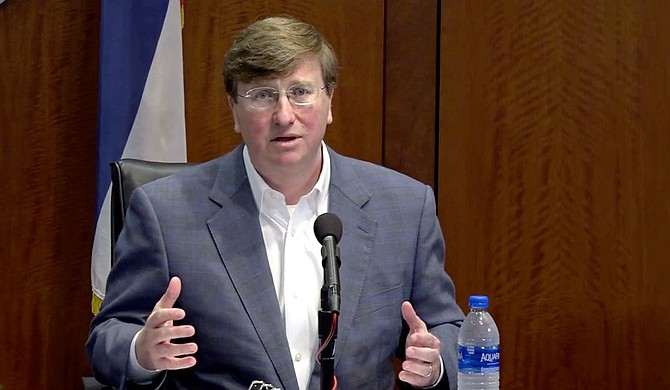 Mississippi Gov. Tate Reeves said Monday that the state still faces danger from the coronavirus pandemic, and people should not harass or make fun of those who follow public health recommendations to wear masks in public. Photo courtesy State of Mississippi