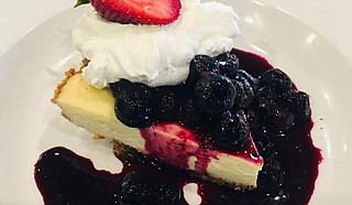 Key lime pie with blueberries and whipped cream Photo courtesy Crazy Cat Eat Up