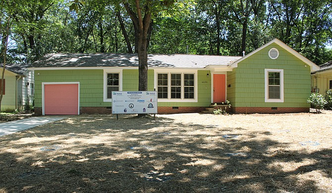 Six houses have been rehabbed and one new house built since Habitat for Humanity Mississippi Capital Area announced an initiative in June 2019 to rehab or build 100 houses in five years in the Broadmoor neighborhood in north Jackson. Photo by Victoria Stein, Habitat for Humanity Mississippi Capital Area