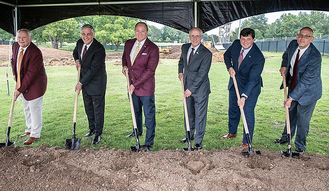 Mississippi State University held a groundbreaking ceremony on Monday, June 15, for construction on a new music building north of the university's current band and choral rehearsal hall on Hardy Road in Starkville. Photo courtesy Logan Kirkland/MSU