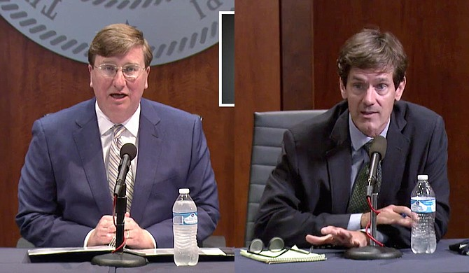 As COVID-19 continues to rapidly spread, the Mississippi State Department of Health's data-management system is failing. Gov. Tate Reeves and State Health Officer Dr. Thomas Dobbs have reduced their public appearances at the same time. Photo by State of Mississippi