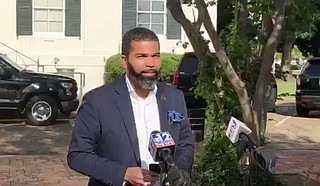 Jackson Mayor Chokwe A. Lumumba cautions residents as the press briefing to not let their guard down. Photo courtesy City of Jackson