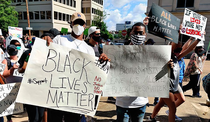 """You're """"being messy, loud, and wrong. per usual. ... if you want to have dialogue, use it,"""" tweeted Maisie Brown, an 18-year-old from Jackson who helped organize a protest that drew thousands to the capital in June after the killing of George Floyd. """"this isn't the time to be divisive & demonize people who got out to change. we were masked! up! where's yours?"""" Photo by Nick Judin"""