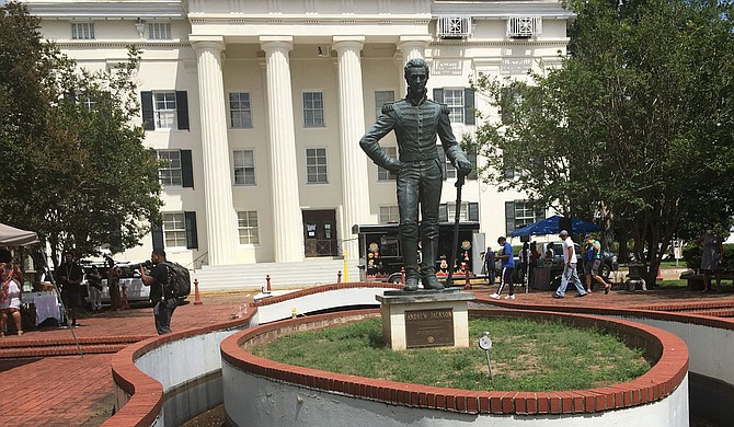 The days are numbered for the Andrew Jackson Statue in front of Jackson City Hall. Photo by Kayode Crown