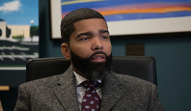 Mayor Chokwe A. Lumumba at the Jackson People's Assembly meeting pushed the need for community involvement in the City of Jackson's decision-making process. File Photo by Stephen Wilson