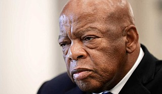 """U.S. Rep. John Lewis, who died Friday at age 80, was the youngest and last survivor of the Big Six civil rights activists who organized the 1963 March on Washington, and spoke shortly before the group's leader, Rev. Martin Luther King Jr., gave his """"I Have a Dream"""" speech to a vast sea of people. Photo courtesy Mark Humphrey/AP Photos"""