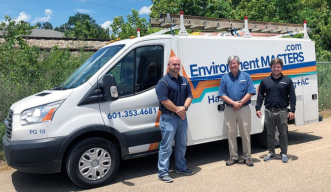Josh Guillot, Plumbing Manager; Raymond Nalty, President; Ben Nalty, HVAC Service Manager Photo courtesy Environment Masters