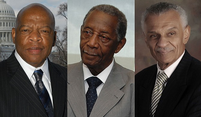 Congressman John Lewis, Mayor Charles Evers and Rev. C.T. Vivian set a high and necessary standard for new generations, columnist Duvalier Malone argues. The rest of us must pick up their torches. Photo credit US House of Representatives, US Navy, and courtesy C. T. Vivian