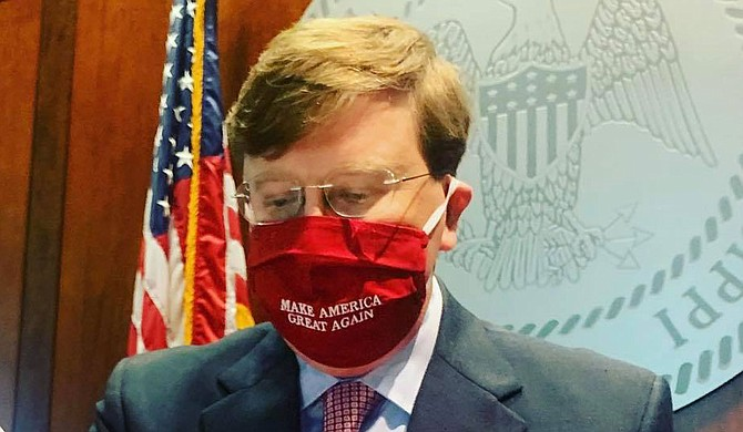 House Speaker Philip Gunn and Speaker Pro Tempore Jason White are suing Gov. Tate Reeves, a fellow Republican, in Hinds County Chancery Court. They are challenging his partial vetoes of two bills to fund state government programs for the year that began July 1. Photo courtesy Tate Reeves