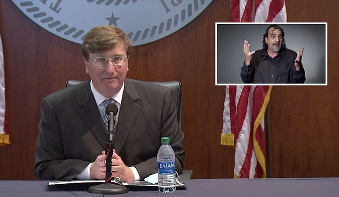 """Mississippi Gov. Tate Reeves described college football—even amid the coronavirus pandemic—as """"essential"""" Tuesday, his comments echoing a tweet President Donald Trump posted the day before and coming on the same day his Republican counterpart in Florida also pushed for games to be held this fall. Photo courtesy State of Mississippi"""