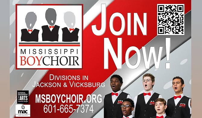 The Mississippi Boychoir is currently recruiting members for both its Jackson and Vicksburg divisions. Recruitment is open for second graders through high school seniors. Photo courtesy Mississippi Boychoir