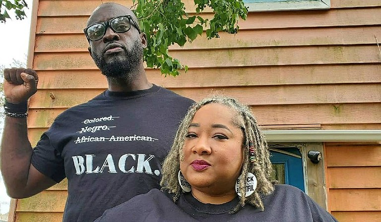 Brad and Funmi Franklin, owners of The Kundi Collective, recently started a line of T-shirts with slogans inspired by hip-hop, pop culture and Black pride. Photo courtesy The Kundi Collective