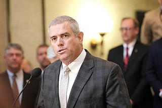Republican House Speaker Philip Gunn said in January that he disagreed with Hood's interpretation of state law. Gunn also said that if legislators want to change the decades-old law that created a financial barrier for state retirees in House or Senate service, they should file a bill. Photo by Ashton Pittman