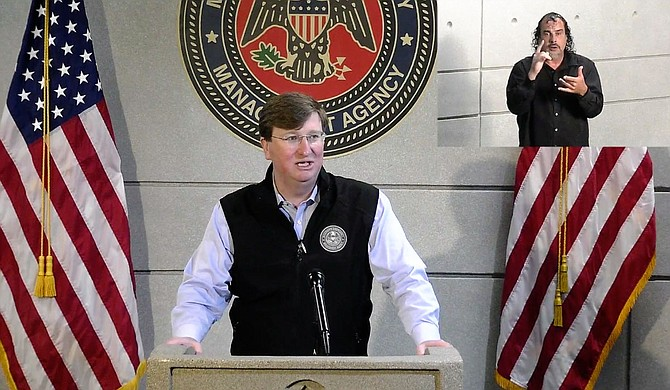 Mississippi Gov. Tate Reeves is extending a statewide mask mandate through the end of September, saying Monday he believes it is helping slow the spread of the new coronavirus. Photo courtesy State of Mississippi