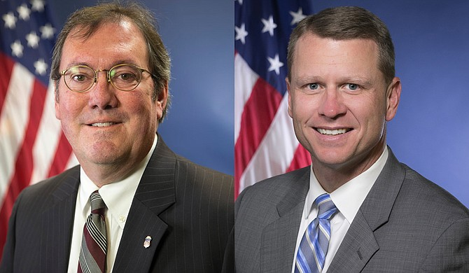 Mississippi organizations will split more than $6 million from the federal government to respond to domestic violence, U.S. attorneys Chad Lamar (left) and Mike Hurst (right) said Thursday. Photo courtesy US Department of Justice