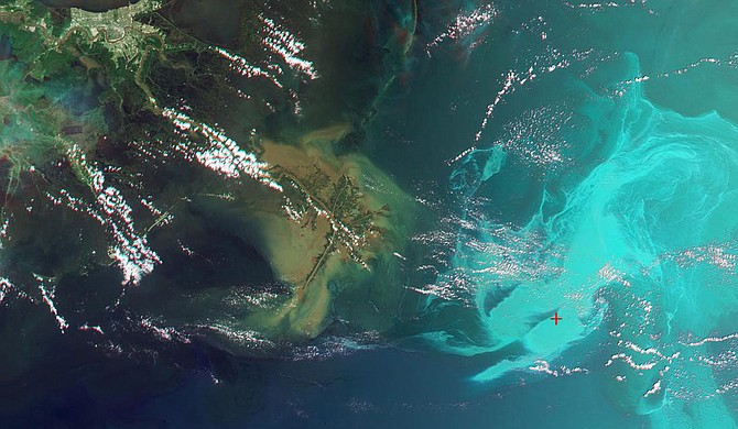 A Mississippi group has approved four projects to restore coastal areas damaged by the 2010 Deepwater Horizon oil spill in the Gulf of Mexico, Gov. Tate Reeves said Thursday. Photo courtesy NASA