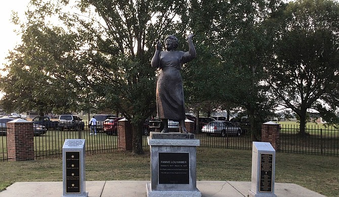 "Fannie Lou Hamer was not ""radicalized"" into claiming her own American rights until she was 44. Then, she got a lot done fast. Today, her statue looks over her tribute-filled burial site in Ruleville, Miss., surrounded by an active park. Photo by Donna Ladd"