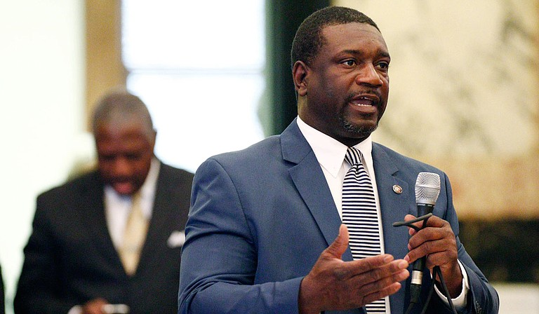Sen. Juan Barnett, D-Heidelberg, chairman of the Senate Corrections Committee, was only 20 when his father was murdered. Over time, he exchanged hatred for forgiveness—a transformation that guides him as he pursues criminal-justice and parole reform in Mississippi. Forgiveness, he says, heals victims and perpetrators alike. Photo by Rogelio V. Solis via AP