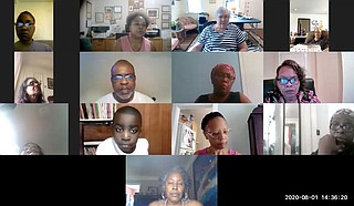 The Learning Tree Book Club gathers for its first virtual meeting. Photo courtesy Learning Tree Book Club