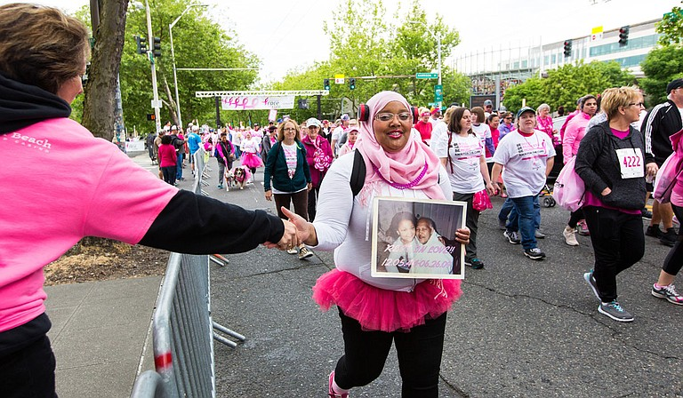 In past years, the Survivor Parades have been in person. This year, the Survivor Parade has adapted so that participants drive decorated cars. Photo courtesy Susan G Komen Memphis-Mid South MS