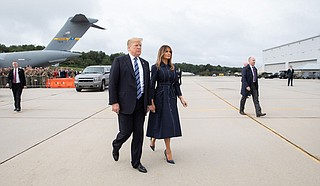 Donald and Melania Trump, shown here, have tested positive for COVID-19 according to Trump's Twitter feed. Official White House Photo by Shealah Craighead
