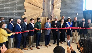 State officials on Thursday opened the new Mississippi Trade Mart that's attached to the coliseum on the state fairgrounds in Jackson. Photo courtesy Commissioner Andy Gipson