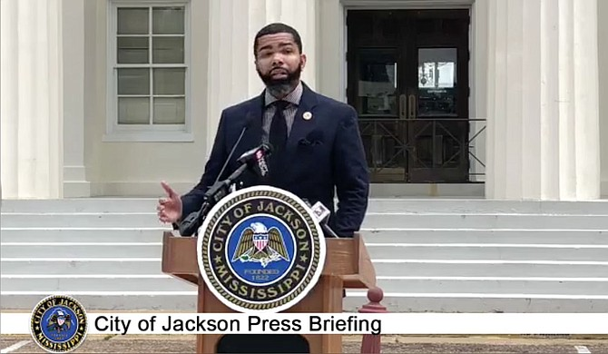 Mayor Chokwe A. Lumumba says the city still needs more vigilance against the COVID-19 pandemic, hence the retention of the facial-covering mandate. Photo courtesy City of Jackson