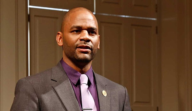 """Jackson City Councilman De'Keither A. Stamps defeated former teacher Robert C. """"Bob"""" Lee Jr. in Hinds County. Stamps succeeds fellow Democrat Jarvis Dortch of Raymond, who resigned July 1 to become director of the American Civil Liberties Union of Mississippi. Photo by Imani Khayyam"""