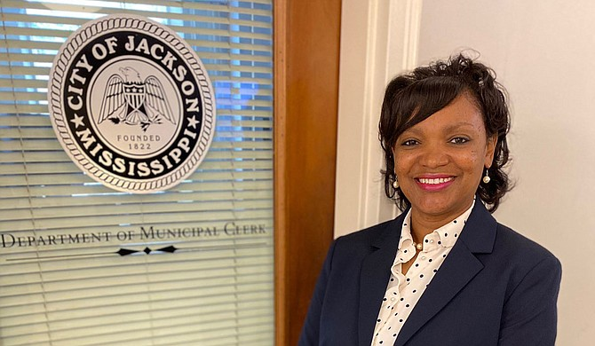 Municipal Clerk Angela Harris explained the role of the Municipal Election Commission members at the Jackson City Council meeting Tuesday. Photo courtesy City of Jackson