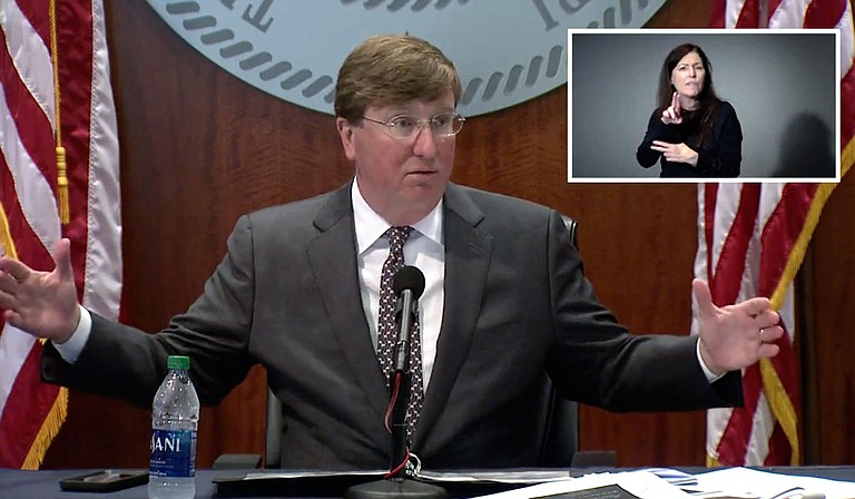 In response to increased spread of COVID-19, Gov. Tate Reeves has issued mask and gathering restrictions for nine counties with heightened rates of viral transmission. Photo courtesy State of Mississippi