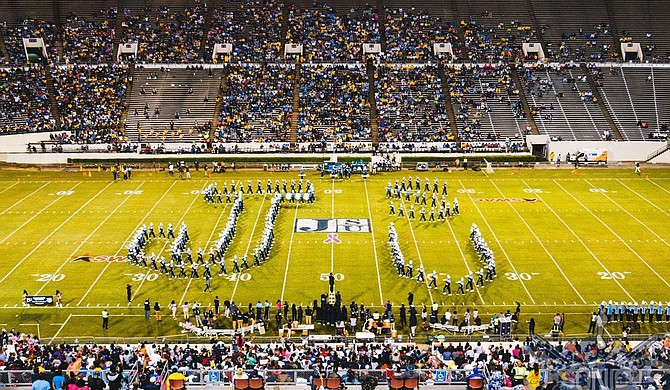 "Jackson State University announced that its Sonic Boom of the South marching band is partnering with YouTube for a livestream event called ""HBCU Homecoming 2020: Meet Me on the Yard."" Photo courtesy JSU"