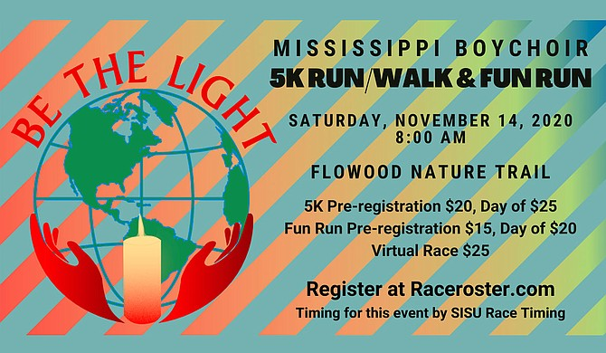 """The Mississippi Boychoir recently announced its inaugural """"Be the Light"""" 5k run and walk and fun run event, which will take place Saturday, Nov. 14, at the Flowood Nature Trail. Photo courtesy Mississippi Boychoir"""