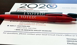 Absentee voting in Mississippi is continuing at a brisk pace, the state's top elections official said Monday. Secretary of State Michael Watson said nearly 170,000 absentee ballots had been requested and about 142,600 of those had been completed and returned by Sunday. Photo courtesy Mississippi Secretary of State