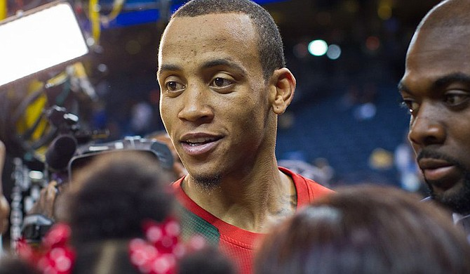 """Former NBA shooting guard Monta Ellis, also known as the """"Mississippi Bullet,"""" recently donated $60,000 to Jackson State University's Sonic Boom of the South marching band. Photo courtesy Nicholas LA Photography"""