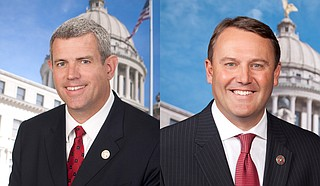 House Speaker Philip Gunn (left) and Speaker Pro Tempore Jason White (right) sued the governor in August, saying he had encroached on legislators' power to make budget decisions. Photo courtesy Mississippi House of Representatives