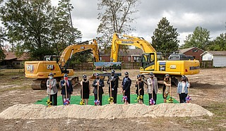 The University of Southern Mississippi's USM Foundation recently held a groundbreaking ceremony for the Quinlan-Hammond Hall of Honor. Photo courtesy Kelly Dunn/USM Photo Services